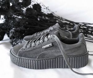grey, puma, and fashion image