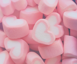 pink, marshmallow, and candy image