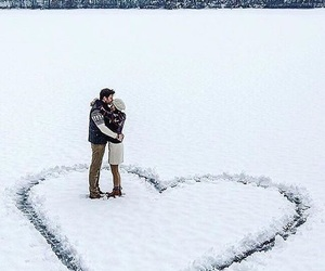 beautiful, couple, and heart image