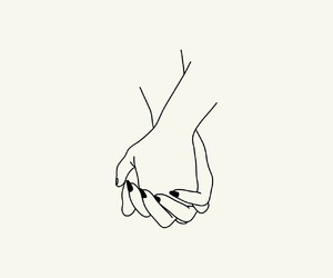 hand, outline, and romance image