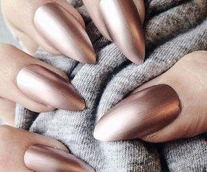 diy, metallic, and nail image