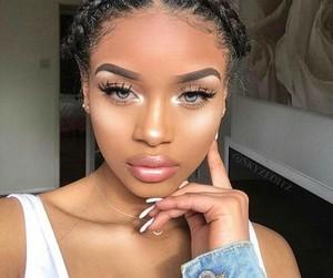 makeup, baddie, and melanin image
