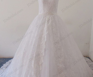 bridal dress, lace gowns, and cheap wedding gowns image