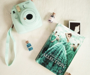 book, glitter, and instax image