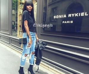 outfit, paris, and style black image
