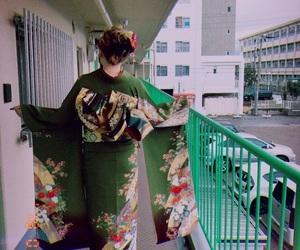 green, japan, and kimono image