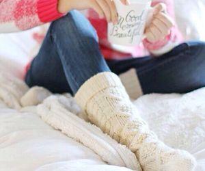 winter, coffee, and socks image
