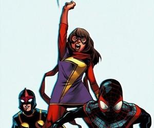 Marvel, nova, and miles morales image