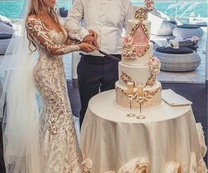 cake, dress, and couple image