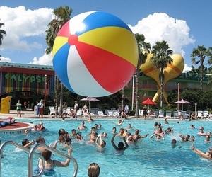 summer, fun, and pool image