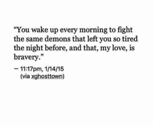 quotes, demons, and bravery image