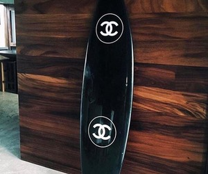 chanel, black, and surf image
