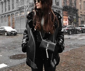 black, brunette, and chic image