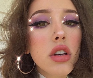lilac, make up, and cute image