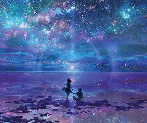 anime, galaxy, and sky image