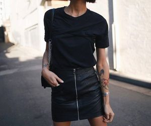 fashion, black, and street style image