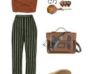 brown, pants, and Polyvore image