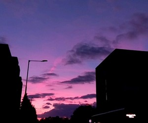 in love and 6:30pm purple blue sky image