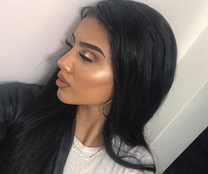 contour, glow, and eyelashes image