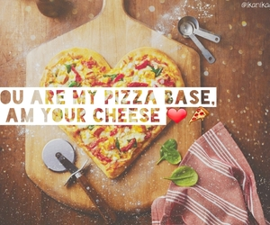 bae, pizza, and love image