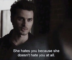 enzo, tvd, and hate image