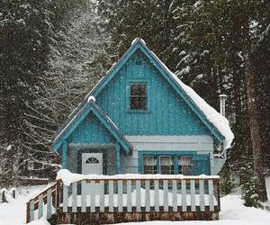 blue, cabins, and cabin image