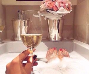 bath, champagne, and luxury image