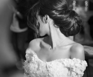 black, bride, and dress image