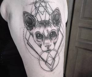 geometry, geometrictattoo, and blacktattoos image