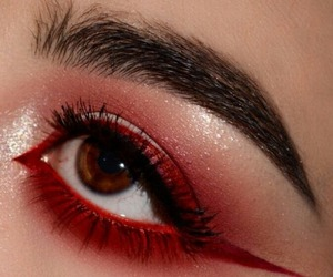 makeup, red, and aesthetic image
