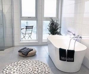 bath, bathroom, and fashion image