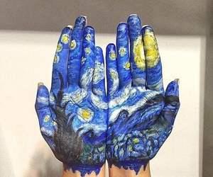 art, hands, and van gogh image