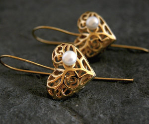 etsy, bridesmaids gifts, and gold dangle earrings image