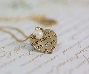 etsy, love necklace, and gold necklace image
