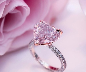 pink, heart, and ring image