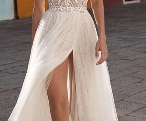 dress, model, and wedding image
