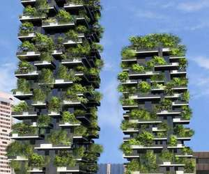 italy, milan, and bosco verticale image