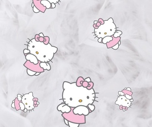 background, hello, and hello kitty image