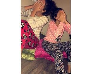 girls, pote, and pyjama image