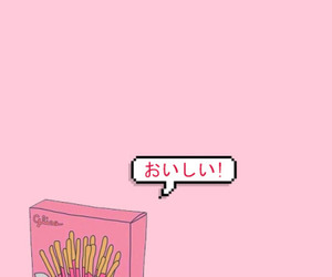 wallpaper, pink, and pocky image