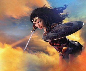 DC, wallpaper, and wonder woman image