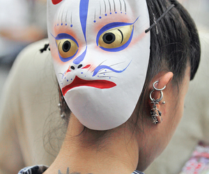 girl, japanese, and mask image