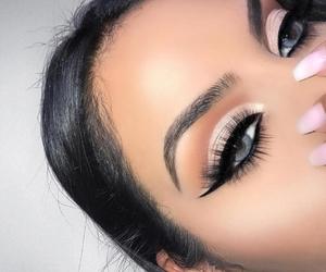 blue eyes, tumblr+instagram, and eye shadow image