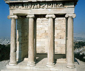 Athens, Greece, and temple of athena nike image