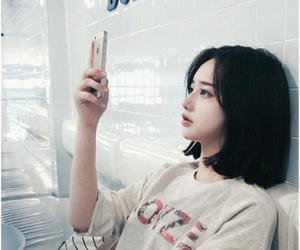 aesthetic, short hair, and asian girl image