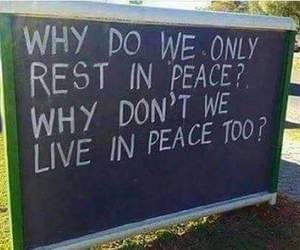 quotes, peace, and live image
