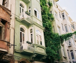 green, city, and house image
