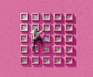 pink and wall image