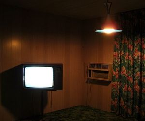 motel, dark, and hotel image