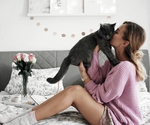 animals, bedroom, and girl image